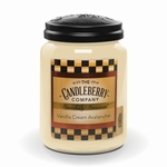 NEW! - Vanilla Cream Avalanche 26 oz. Large Jar Candleberry Candle | New Releases by Candleberry
