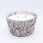CLOSEOUT - Vanilla Pound Cake White Woods Pottery Bark Tapered Pot Swan Creek Candle | Swan Creek Candles Closeouts