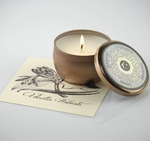 Vanilla Robusto Unearthed Lusso Latta 4.4 oz. Travel Tin  by Candleberry | NEW! - UnEarthed Luxury Candles by Candleberry