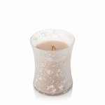 CLOSEOUT-Vanilla & Sea Salt Sea & Sand Decorated Medium Hourglass WoodWick Candle | Discontinued & Seasonal WoodWick Items!