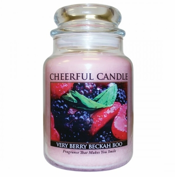 NEW! - Very Berry Beckah Boo 24 oz. Cheerful Candle by A Cheerful Giver