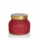 NEW! - Volcano 19 oz. Red Glitter Glam Signature Jar Candle by Capri Blue | Holiday Candles by Capri Blue