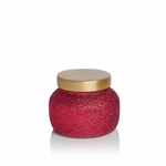 NEW! - Volcano 8 oz. Red Glitter Glam Petite Jar Candle by Capri Blue | Holiday Candles by Capri Blue