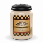 NEW! - Waffle Cone 26 oz. Large Jar Candle Candleberry Candle | New Releases by Candleberry