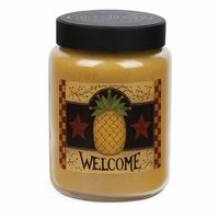 NEW! - Welcome Artwork Pineapple Upside Down Cake 26 oz. Crossroads Candle