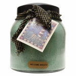 Welcome Wreath 34 oz. Papa Jar Keepers of the Light Candle by A Cheerful Giver | Keeper's of the Light 34 oz. Papa Jar Candles by A Cheerful Giver