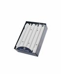 "White 8"" Unscented Classic Taper 12-Pack Colonial Candle 