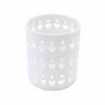 NEW! - White Heart Ceramic Petite Holder WoodWick Candle | New WoodWick Spring & Summer 2019 Releases
