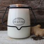 NEW! - White Tea & Ginger 22 oz. Butter Jar Candle by Milkhouse Candle Creamery | 22 oz. Butter Jar Candles by Milkhouse Candle Creamery