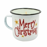 NEW! - Wild Harvested Bayberry Festive Holiday Medium Mug Swan Creek Candle | Holiday Enamelware Candles