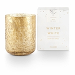 NEW! - Winter White Small Luxe Sanded Mercury Glass Illume Candle | Holiday Collection by Illume Candles