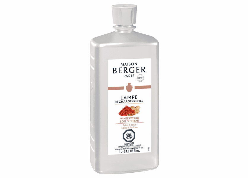 NEW! - Winterwood 1 Liter (33.8 oz.) Fragrance Lamp Oil - Lampe Berger by Maison Berger