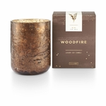 NEW! - Woodfire Small Luxe Sanded Mercury Glass Illume Candle | Holiday Collection by Illume Candles