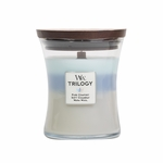 Woven Comforts WoodWick Trilogy Candle 10 oz. | Medium WoodWick Trilogy Candles - 10 oz.