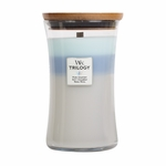 Woven Comforts WoodWick Trilogy Candle 22 oz. | Large WoodWick Trilogy Candles - 22 oz.