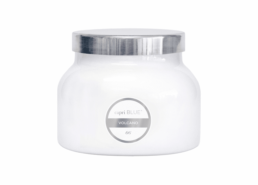 No. 6 - Volcano White Signature Jar Candle by Capri Blue