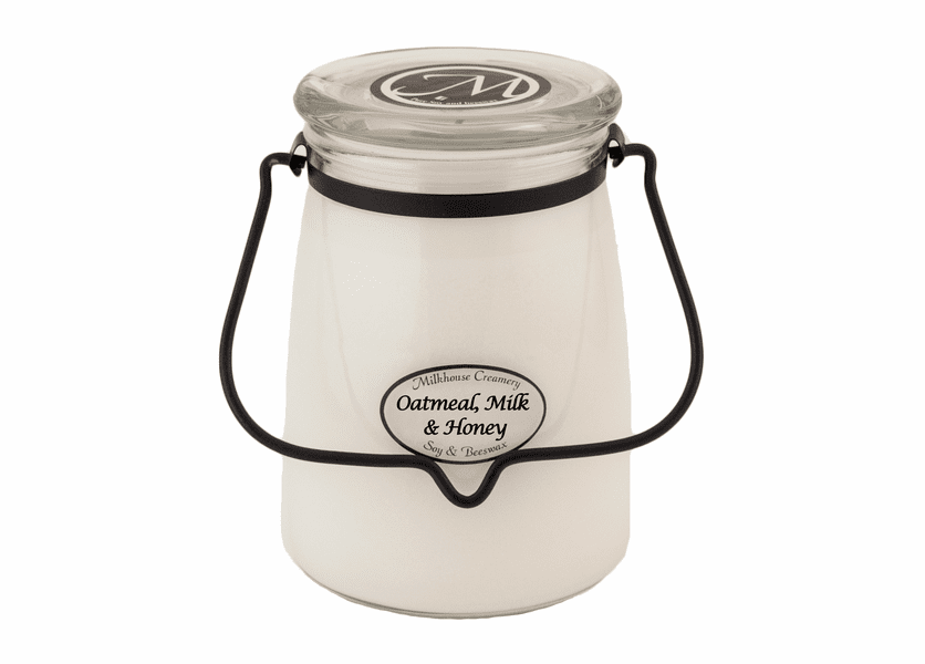 Oatmeal, Milk, & Honey 22 oz. Butter Jar Candle by Milkhouse Candle Creamery
