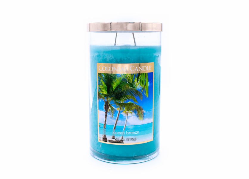 Ocean Breeze 18 oz. Bronze Collection Colonial Candle