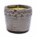 CLOSEOUT-Oh Sugar Sugar Vintage Round Pot Swan Creek Candle (Color: Pewter) | Swan Creek Vintage Pottery Collection