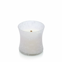CLOSEOUT - Palo Santo First Frost Frosted Mini Hourglass WoodWick Candle