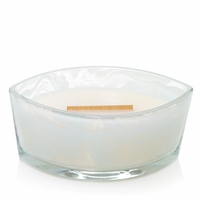 Palo Santo First Frost Gloss Glass Ellipse WoodWick Candle