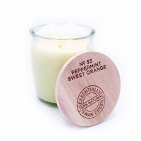 CLOSEOUT - Peppermint & Sweet Orange Essential Candle Jar 9 oz. Swan Creek Candle