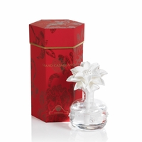 CLOSEOUT - Poinsettia Grand Casablanca 6.8 oz. Porcelain Diffuser by Zodax