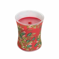 NEW! - Pomegranate Decal Glass WoodWick Candle