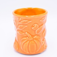 CLOSEOUT - Pumpkin Butter Ceramic Hourglass WoodWick Candle