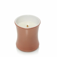 CLOSEOUT - Pumpkin Butter Ceramic Mini Hourglass WoodWick Candle