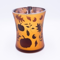 CLOSEOUT - Pumpkin Butter Dancing Glass WoodWick Candle