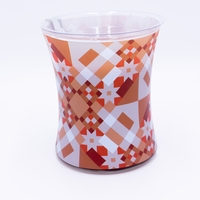 CLOSEOUT - Pumpkin Butter Decal Glass WoodWick Candle