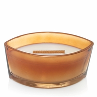 Pumpkin Butter Decorated Ellipse WoodWick Candle