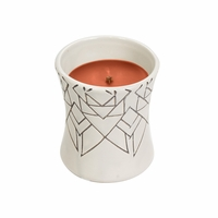 NEW! - Pumpkin Pecan Ceramic Hourglass WoodWick Candle