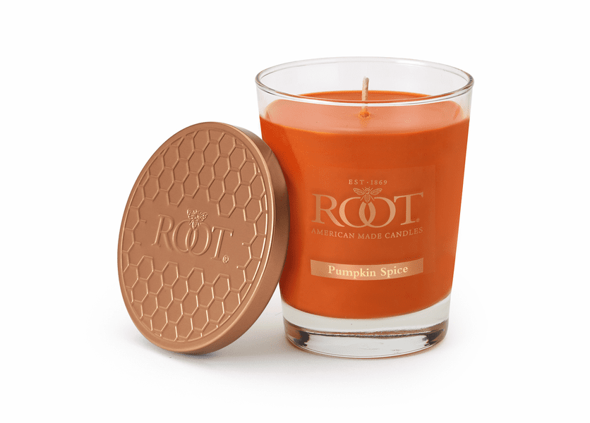 Pumpkin Spice Large Honeycomb Veriglass Candle by Root