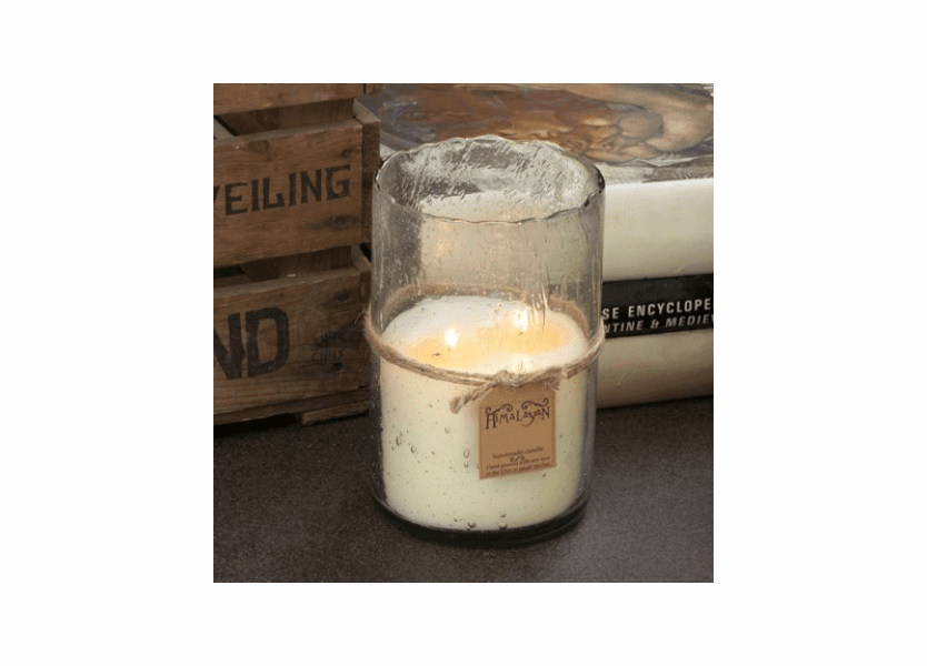 Red Currant 32 oz Silver Hurricane Candle by Himalayan Candles