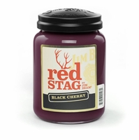 Red Stag Black Cherry 26 oz. Large Jar Candleberry Candle