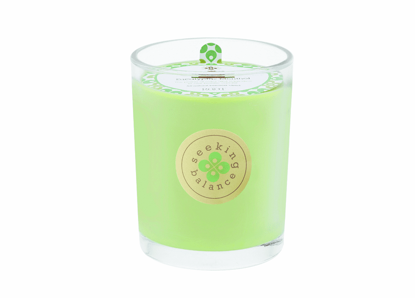 Relieve (Eucalyptus Menthol) Seeking Balance 15 oz. Large Spa Candle by Root