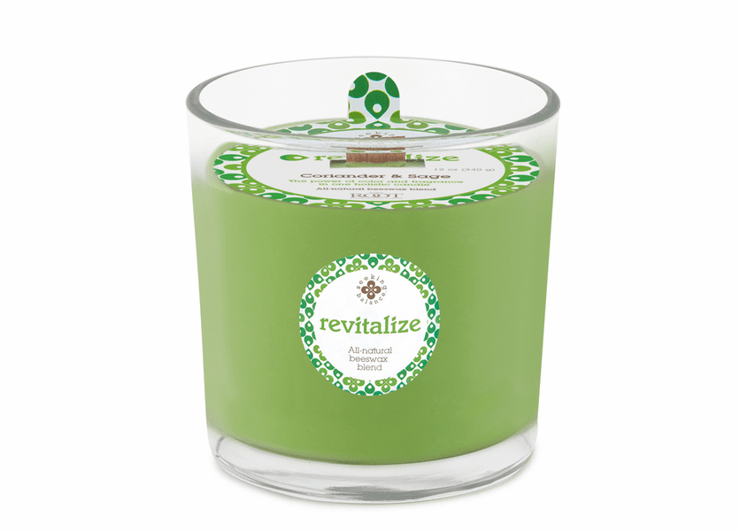 Revitalize (Coriander & Sage) 12 oz. Seeking Balance Spa Candle by Root