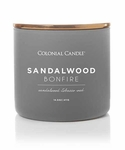 Sandalwood Bonfire 14.5 oz. Pop of Color Trend Collection Colonial Candle | Pop of Color Collection Colonial Candle