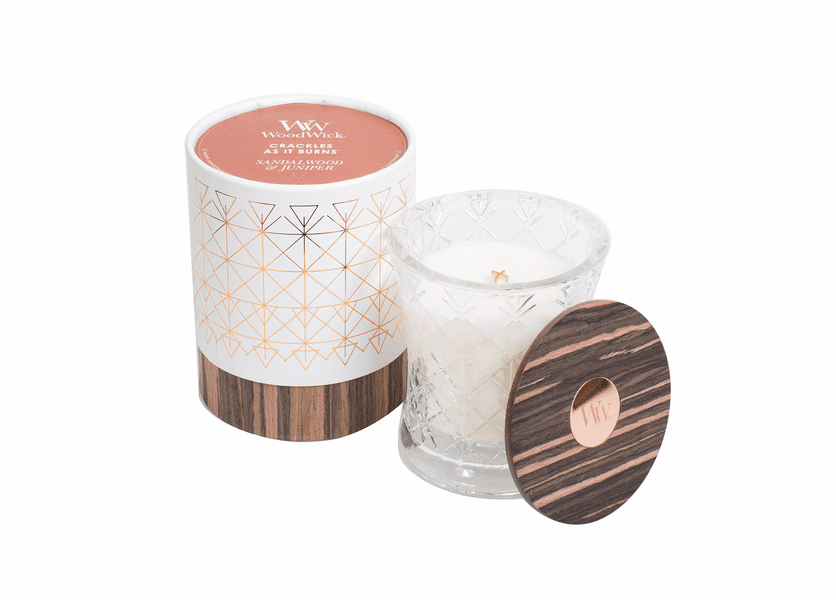 Sandalwood & Juniper Aura WoodWick Candle