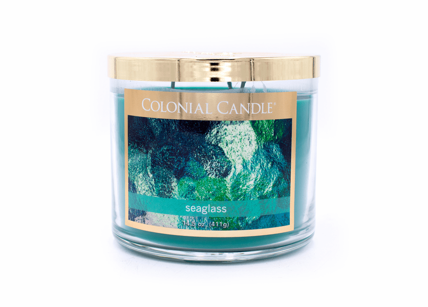 Seaglass 14.5 oz. Bronze Collection Colonial Candle