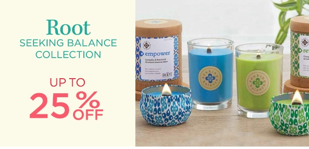Seeking Balance Spa Candles by Root