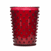 NEW! - Simpatico Reindeer Hobnail Glass Candles by K. Hall Studio
