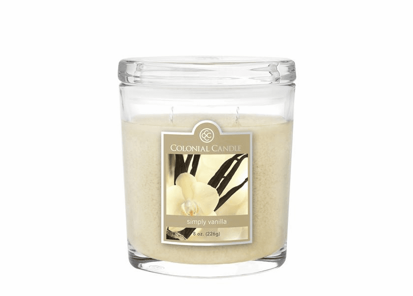Simply Vanilla 8 oz. Oval Jar Colonial Candle