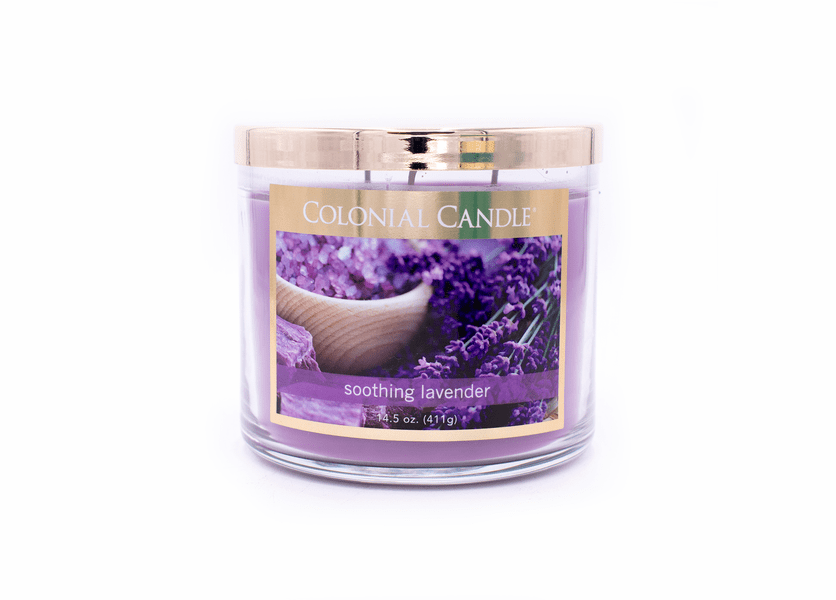 Soothing Lavender 14.5 oz. Bronze Collection Colonial Candle