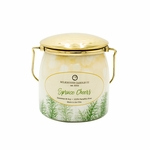 CLOSEOUT - Spruce Cheers Ltd Edition 16 oz. Wrapped Butter Jar by Milkhouse Candle Creamery | Milkhouse Candle Creamery Closeouts