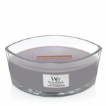 Suede & Sandalwood WoodWick Candle 16 oz. Hearthwick Flame   WoodWick Fall & Holiday 2019 New Releases