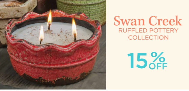 Swan Creek Ruffled Pottery Collection