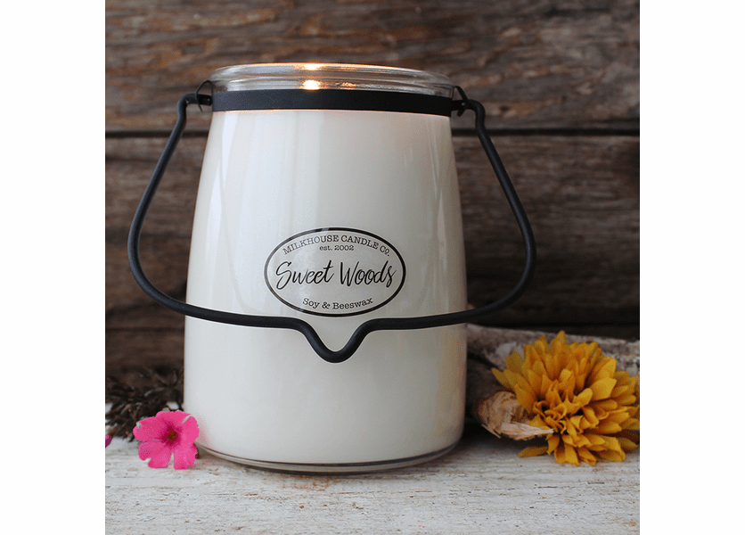 Sweet Woods 22 oz. Butter Jar Candle by Milkhouse Candle Creamery